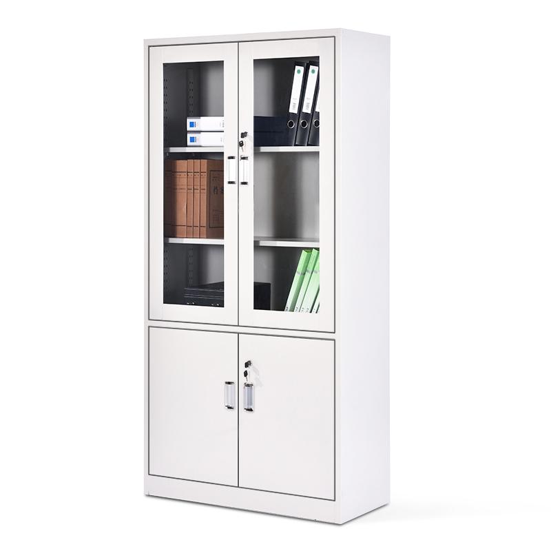 华鑫订制0.8mm厚文件柜办公柜钢制铁皮柜资料柜档案柜储物柜大器械文件柜