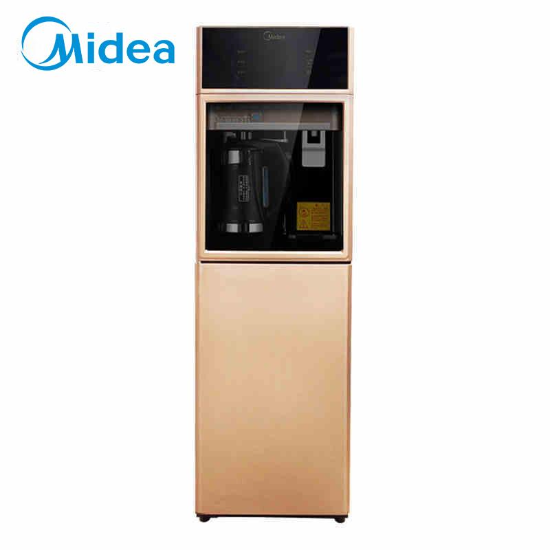 美的(Midea) 家用立式冷热制冷纳虑过滤直饮水机净饮机JD1358S-NF办公室台式即热茶吧机 巧克力色