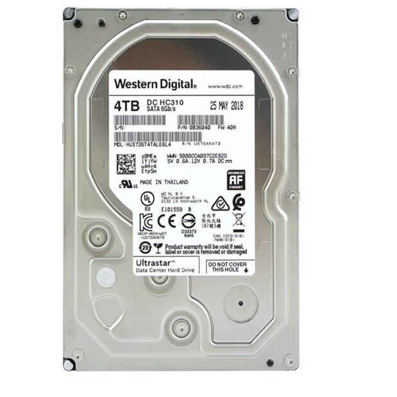 西部数据(WD) 4TB 7200转 256M SATA企业级硬盘 HUS726T4TALE6L4