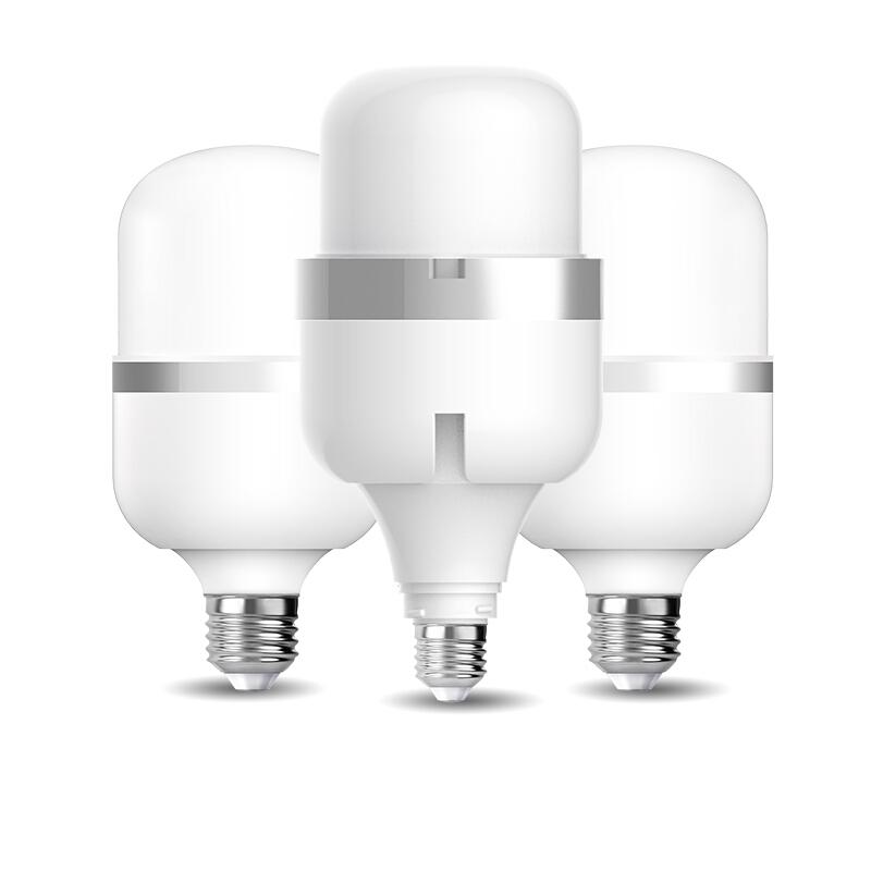 佛山照明(FSL)大功率LED灯泡 风扇款柱形-E27-45W 大螺口工厂球泡 工业照明超市高亮节能灯风扇款 白光