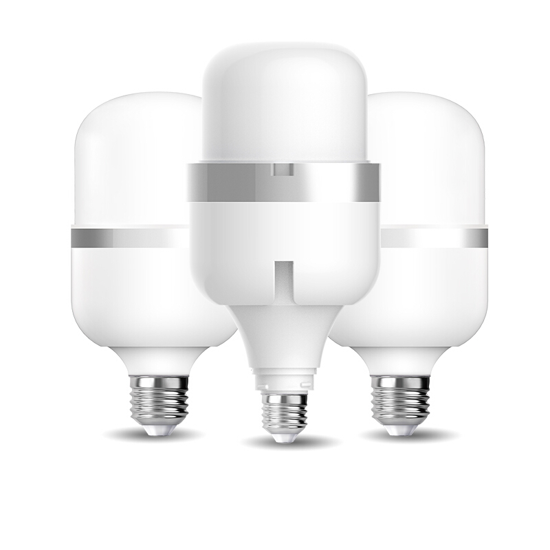 佛山照明(FSL)大功率LED灯泡 风扇款柱形-E27-35w 大螺口工厂球泡 工业照明超市高亮节能灯风扇款 白光