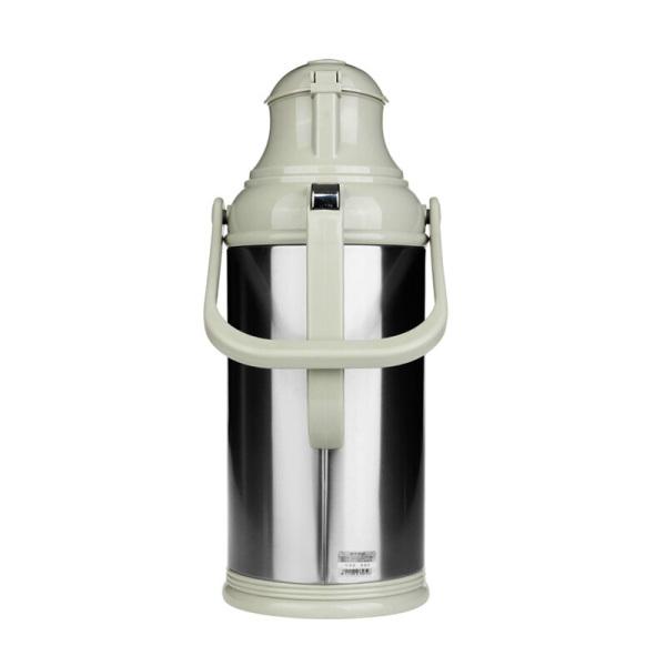 清水(SHIMIZU) 不锈钢热水瓶 玻璃内胆保温水瓶 家用保温瓶暖瓶3262 钢本色 2L