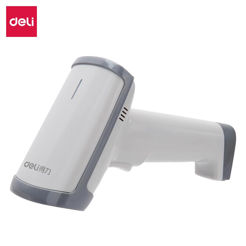 得力(deli)手机屏 支付宝 微信有线影像 条码扫描器 扫码枪 灰色 14950