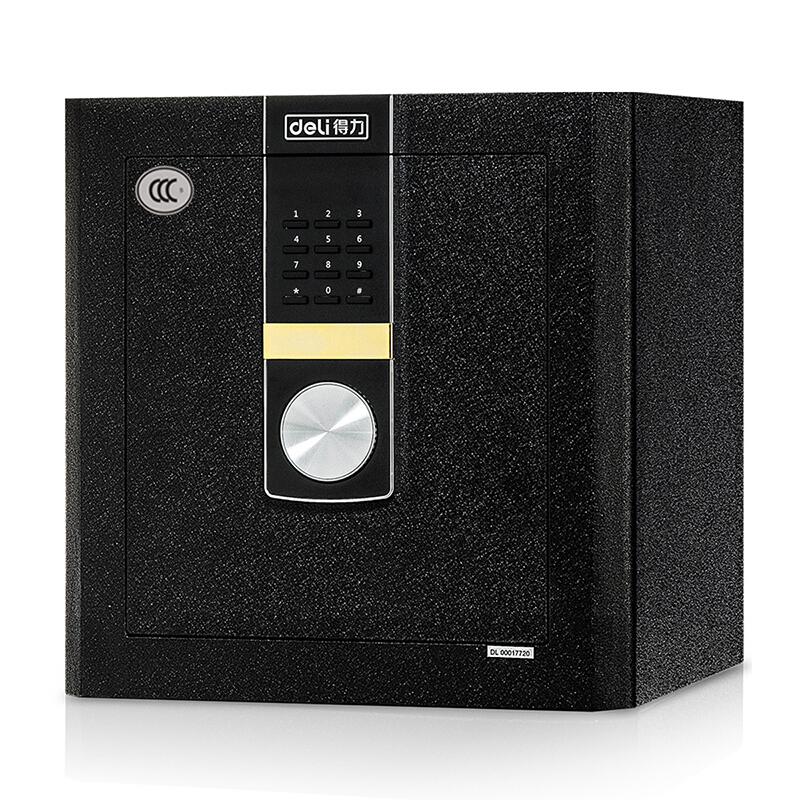 得力(deli)4048电子密码保险箱 家用 3C认证 小型入墙保险柜办公保管柜 黑色 4048