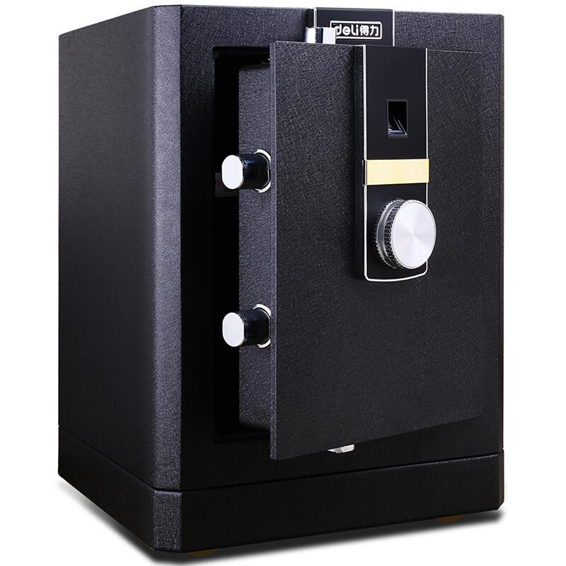 得力(deli)4051 黑尊指纹触控保险箱 3C认证家用办公保险柜 全钢结构