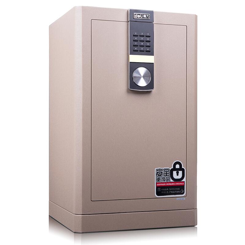 得力 (deli)4044 保险柜家用办公 3C认证全钢保险箱大型床头保险柜入墙 浅棕
