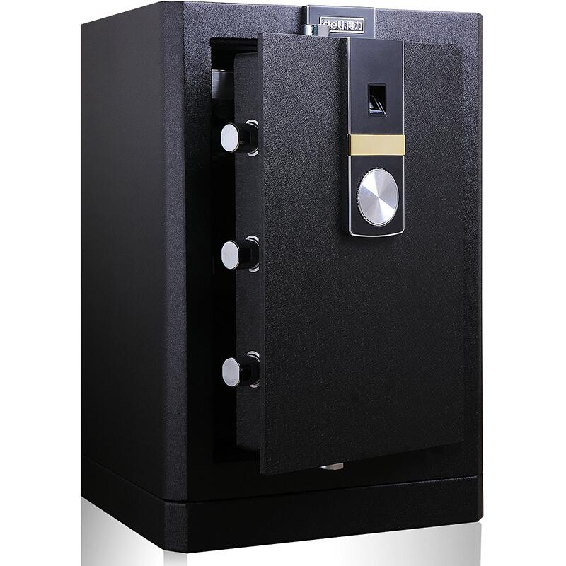 得力(deli)4052黑尊指纹触控保险箱 办公保险柜 3C认证家用保险箱 全钢