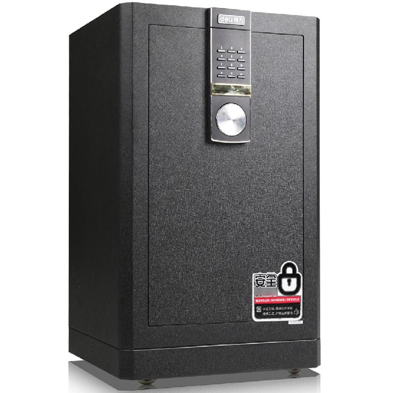 得力 (deli)4044 保险柜家用办公 3C认证全钢保险箱大型床头保险柜入墙 黑色