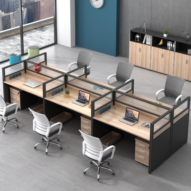 华鑫办公职员办公桌工位桌1200*600*1100h/位