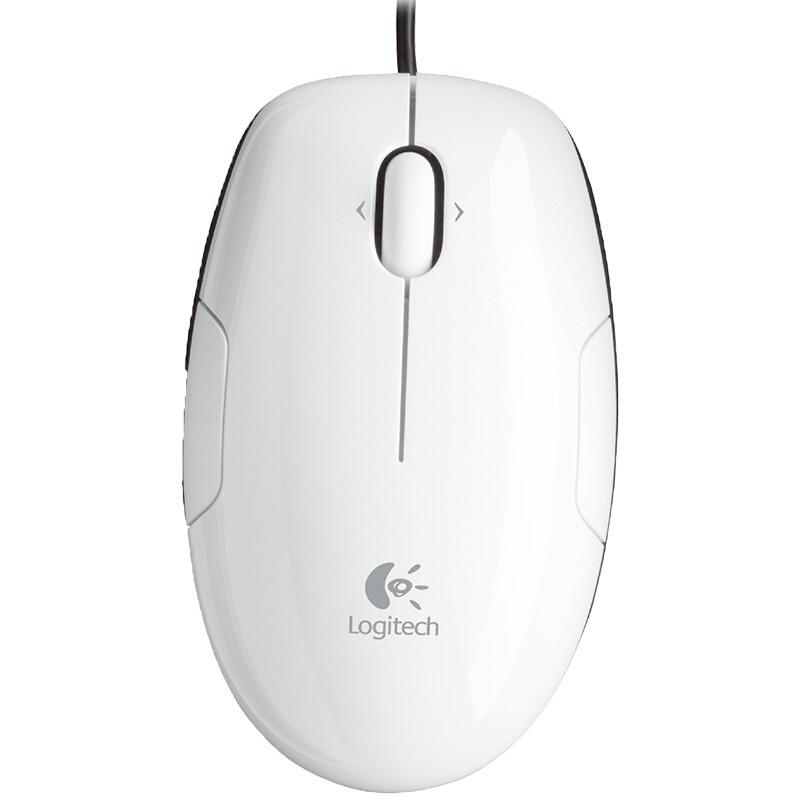 罗技(Logitech)LS1有线USB激光鼠标 家用办公电脑笔记本通用 白色