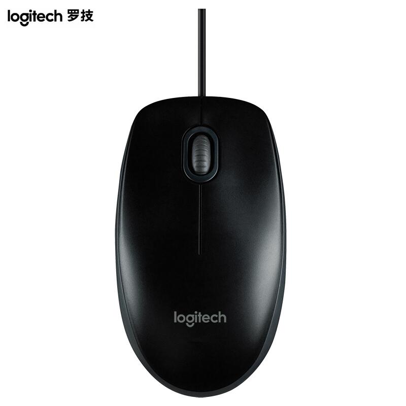 罗技(Logitech)M100r 光电鼠标 即插即用 三年质保(黑色)