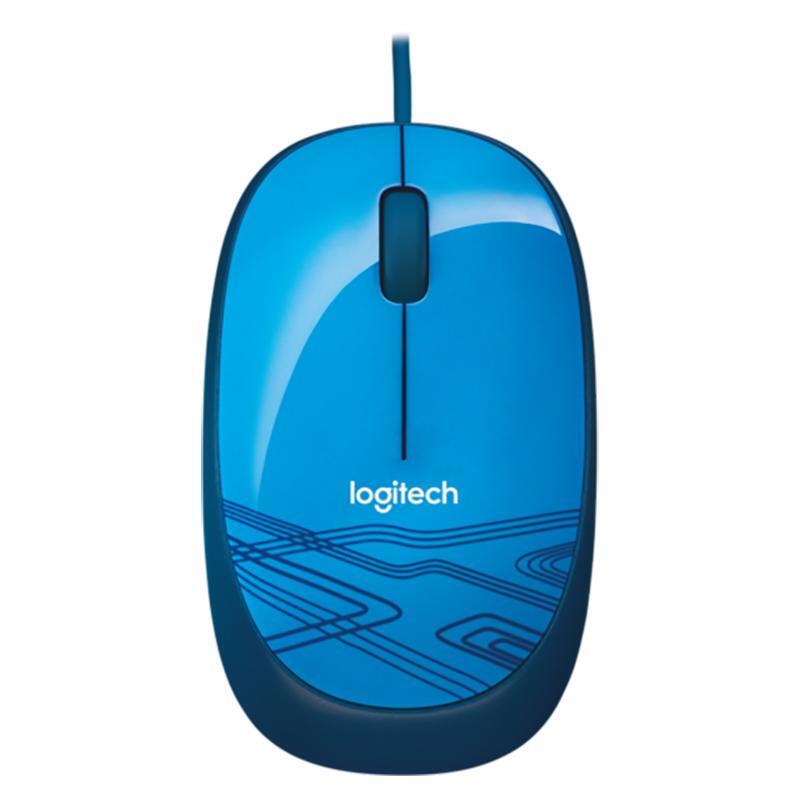 罗技(Logitech) M105 有线鼠标 笔记本台式电脑USB鼠标轻巧便携鼠标 活力蓝