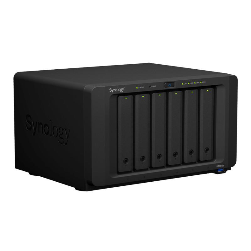 群晖 (Synology) DS3018xs 六 盘位 企业级  NAS 网络存储服务器(含加速卡、硬盘)
