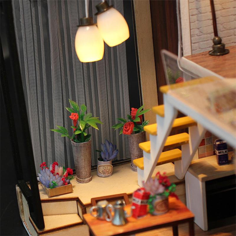 墨斗鱼diy小屋1007北欧别墅情人节礼物送男友新年礼物手工制作小房子模型阁楼别墅拼装创意装饰品女生日礼物
