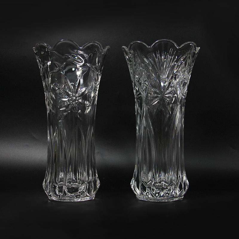 墨斗鱼 富贵竹花瓶宝石款20cm1533 加厚插花摆件客厅落地大号透明玻璃花器水培瓶家居装饰品