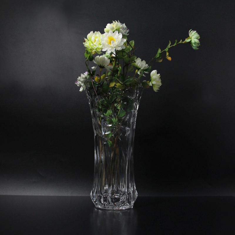 墨斗鱼 富贵竹花瓶龙珠款20cm1564 加厚插花摆件客厅落地大号透明玻璃花器水培瓶家居装饰品
