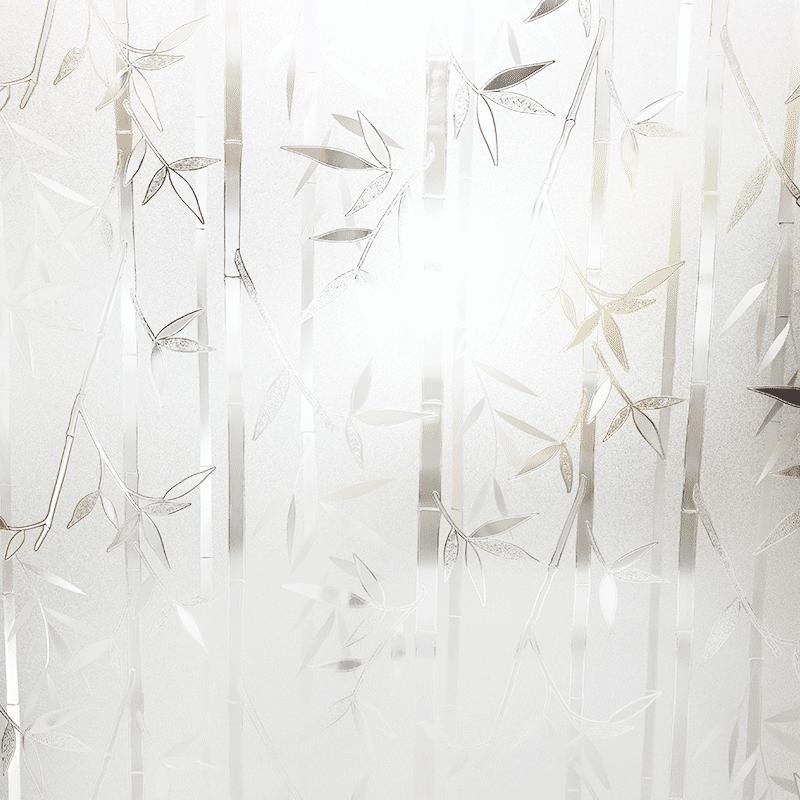 墨斗鱼玻璃贴膜90*200cm竹子0421 窗户贴纸磨砂玻璃膜办公室窗户浴室厨房卫生间阳光房移门窗贴膜玻璃纸窗贴