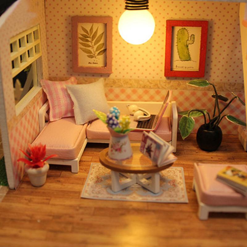 墨斗鱼diy小屋1014粉黛阁楼情人节礼物送女友新年礼盒手工制作小房子模型DIY艺术屋拼装玩具创意女朋友礼品